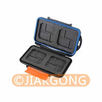 Waterproof Extremely tough Memory Card Case MC-4 for 4CF 8XD 8Micro SD Cards