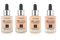 CATRICE HD LIQUID COVERAGE FOUNDATION LASTING 24HR 30ml (VARIOUS SHADES)