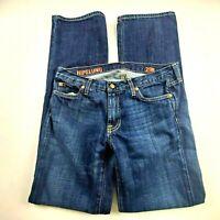 J Crew Womens Jeans Sz 29 Hipslung Boot Cut Mid Rise Dark Wash Denim Pants