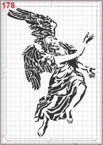Large Beautiful Angel Stencil MYLAR A4 sheet strong reusable art craft wall deco