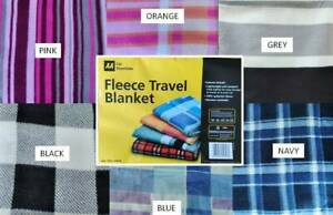 Fleece Travel / Picnic Blanket AA Car Blanket 120cm x 150cm