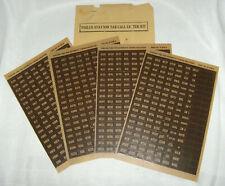 New ListingVintage E.1940's Philco Station Tab Call Letter Kit- Call Letter Sheets+Envelope