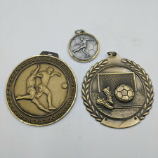 Gold Silver Bronze Football Medal Attractive Engraved Sterling Fob Stg