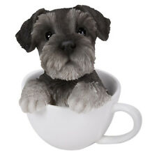 "Schnauzer Teacup Puppy Dog Collectible Figurine Miniature 5.5""H New"