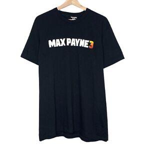 Max Payne 3 Rockstar Gaming Mens Black T-Shirt Size Large