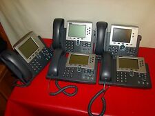 Lot of 5 Cisco 7960 Office Business Phone no ac adapter Broken Stands For Parts