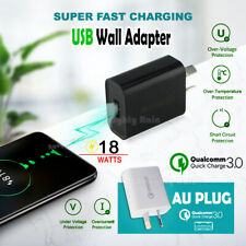 Qualcomm 18W  Quick Charge QC 3.0 For Universal Fast USB AU Plug Wall Charger