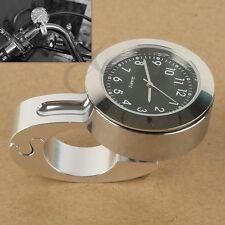 "7/8"" 1"" Handlebar Hand Bar Mount Dial Clock Watch Fit For Honda CBR600 CR 125R"
