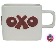 VINTAGE STYLE RETRO OXO LARGE SQUARE RED LOGO COFFEE MUG CUP NEW & BOX