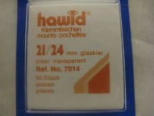 250 (5x50)HAWID 21/24MM CLEAR STAMP MOUNTS -DEFINITIVE - SUPPLIES