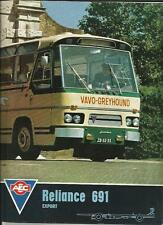 AEC RELIANCE 691 CHASSIS BUS COACH SALES BROCHURE 1966  1967