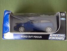 1:24 Maisto Blue Ford Focus Special Edition * NIB * 2003 * Perfect Gift!