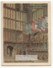 Henry Vii's Chapel Westminste Abbey England 1920s Ad Trade Card