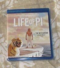 Life Of Pi Blu-Ray + Dvd+ Digital Copy Disc Brand New Free Shipping