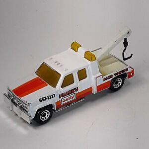 1987 Matchbox GMC Wrecker Frank's Getty Tow Truck