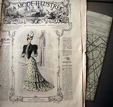 PATRON FRENCH PATTERN LA MODE ILLUSTREE n° 38//1879 Voir modèles à réaliser