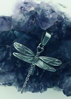 Celtic Ribbon of Life Dragonfly Stainless Steel Pendant no chain