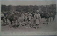 WW1 INDIAN ARMY Arriving at Camp Soldiers Horses Equipment Marseilles PC 1914