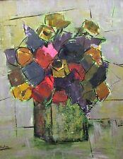 Mid Century, Flowers Still Life Painting By Irene Smithwick