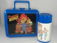 James Bond Jr 1991 lunchbox lunch box with thermos Aladdin