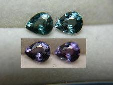 2 Color Change Garnet Gems VERY RARE Blue Green Purple Bekily Madagascar pear