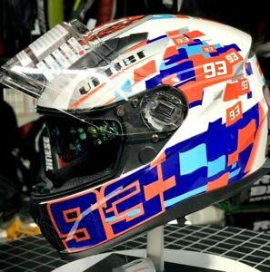 MARC MARQUEZ 93 HELMET MOTO GP DOUBLE VISOR CASCO MARC MARQUEZ MOTOGP RACING