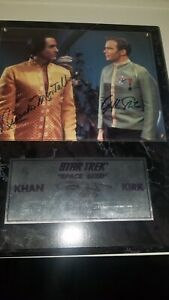 William Shatner Ricardo Montalban SIGNED Plaque / QVC Limited edition Star Trek