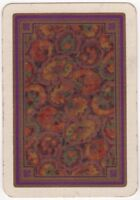 Playing Cards Single Card Old Vintage Wide Colourful ART FLOWERS Flower Design 2