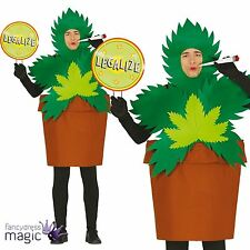 Legalise Me Plant Weed Festival Marijuana Stag Fancy Dress Rasta Costume Outfit