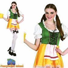OKTOBERFEST GERMAN BEER BAVARIAN - Size 10-14 womens ladies fancy dress costume
