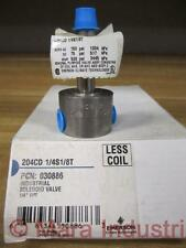 "Emerson 030886 Solenoid 1/4""FPT Valve 204CD 1/4S1/8T Less Coil (Pack of 3)"