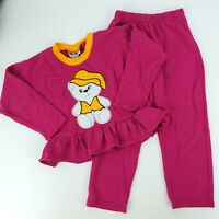 Vtg 80s/90s Melody Creations USA Girls 5 Acrylic Ruffled Sweatshirt Outfit Set