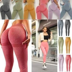 Women's Gym Seamless Fitness Leggings High Waist Training Sports Yoga Long Pants