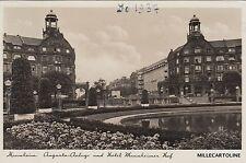 GERMANY - Mannheim - Augusta Anlage und Hotel Mannheimer Kaf - Italian mail 1937