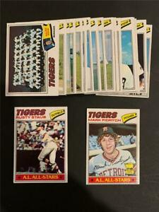 1977 Topps Detroit Tigers Team Set 22 Cards Mark Fidrych RC