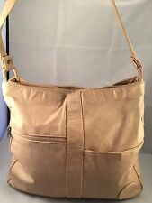 "~ BIG SUR ~ Large Tan Shoppers Tote Crossbody Shoulder Bag 13"" X 3.75"" X 14"""