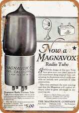 Metal Sign - 1924 Magnavox Radio Tubes -- Vintage Look