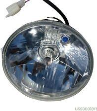 VESPA COMPLETE HEADLIGHT HIGH QUALITY HALOGEN BLUE LED SIDE LIGHT PX/P/LML/T5