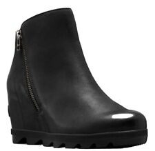 Black Sorel Joan Of Artic Zip wedge Size 10