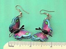 Spirit of Nature BUTTERFLY - earrings , ear rings GIFT BOXED purple blue