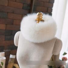 SCM043  fashion women's real fox fur scarves collars winter girls neck warm wrap