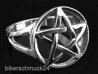 Pentagramm Ring offenes keltisches Pentagramm 925 Silber Gothic Bikerschmuck NEU