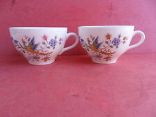Hanley (Dudson Brothers) R.M.L. Exotic Bird - 2 x Teacups