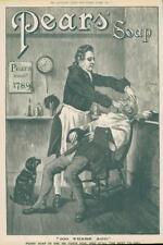1891 antica stampa-Pubblicità Pears Soap Barbiere Rasatura Taglio Gola Rasoio (293