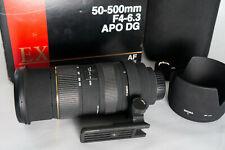 Sigma 50-500mm F 4-6,3 APO EX DG für Nikon