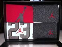 553842-693 Baby Air Jordan 23 4pc Set 2 Bodysuit 1 Pant 1 Beanie 0-6 Months NIB