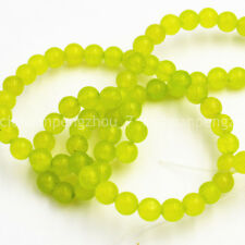 """Natural 4mm Green Peridot Gemstone Round Loose Beads 15"""" AAA On Sale"""