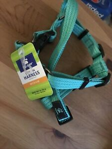 Top Paw Adjustable Dog Harness, Aqua Blue  Size: Med  Step In Harness