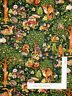 Forest Babies Baby Animal Deer Bunny Trees Green Cotton Fabric Oasis By The Yard