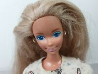 Vintage 1966 Barbie Doll Blonde Hair Blue Eyes No Shoes Bending Knees Malaysia